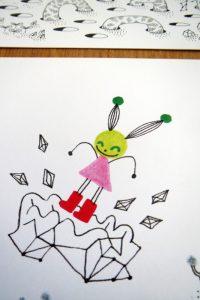 Cartes postale Petite Martienne